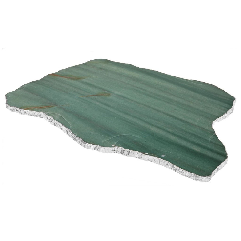 Anna by Rablabs Kiva Large Platter Emerald Quartz Silver, MPN: KI-003 UPC: 810345020218