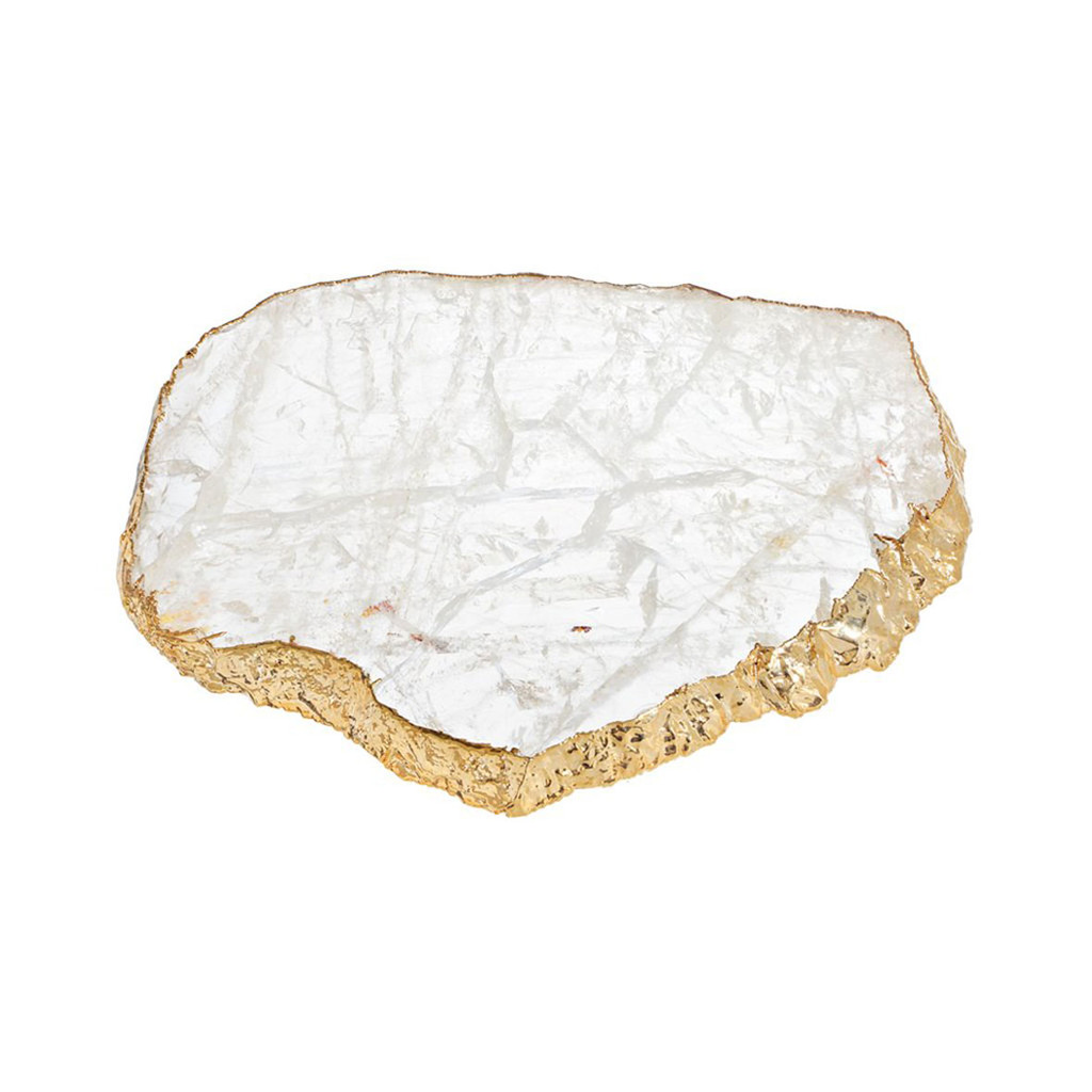Anna by Rablabs Kiva Medium Platter Crystal Gold, MPN: KM-006 UPC: 810345021604