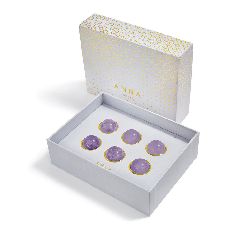 Anna by Rablabs Vida Wine Gems Flourite Set of 6, MPN: WG-001 UPC: 810345027293