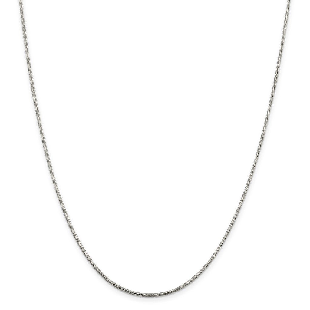 1.65 mm Diamond-Cut Round Snake Chain Sterling Silver, MPN: QSD2, UPC: 886774408453