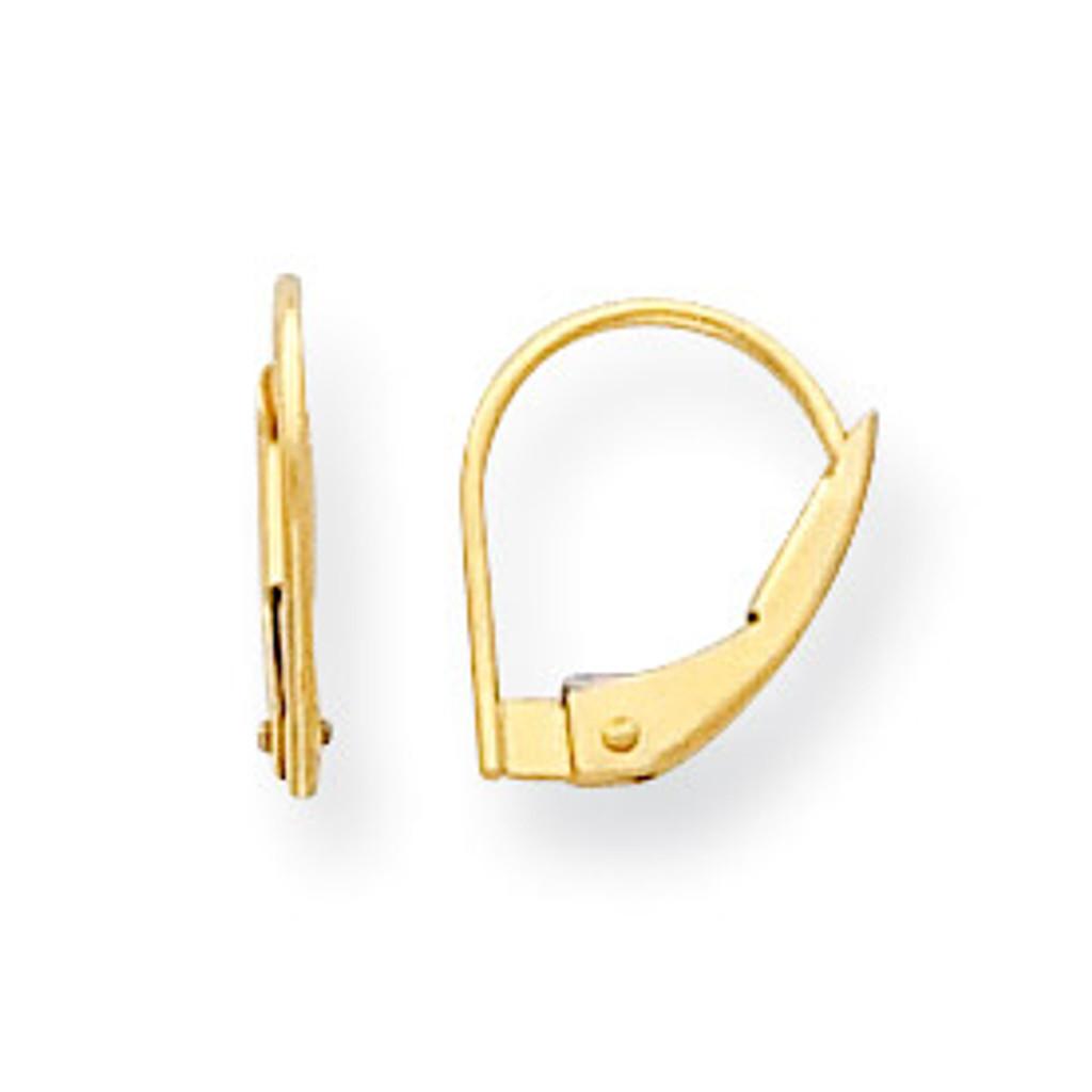Leverback Single Earring Component 14k Gold MPN: YG788