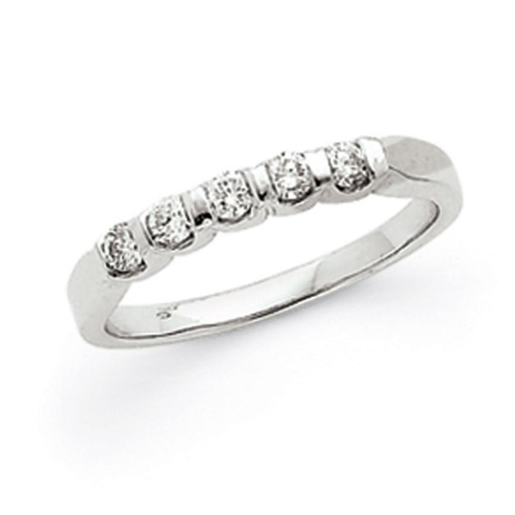 .25ct. Diamond Anniversary Band Mounting 14K White Gold  MPN: Y3681 UPC: