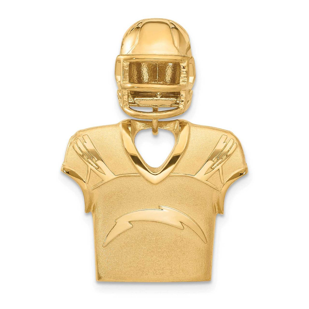 Los Angeles Chargers Jersey & Helmet Pendant Gold-plated on Sterling Silver MPN: GP531CHA UPC: 634401009272
