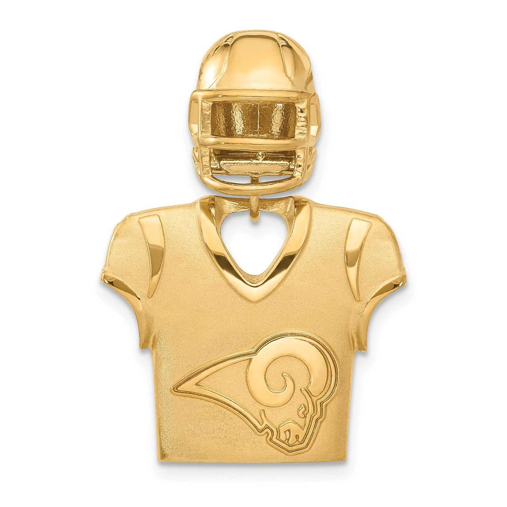 Los Angeles Rams Jersey & Helmet Pendant Gold-plated on Sterling Silver MPN: GP531RAM UPC: 634401010032