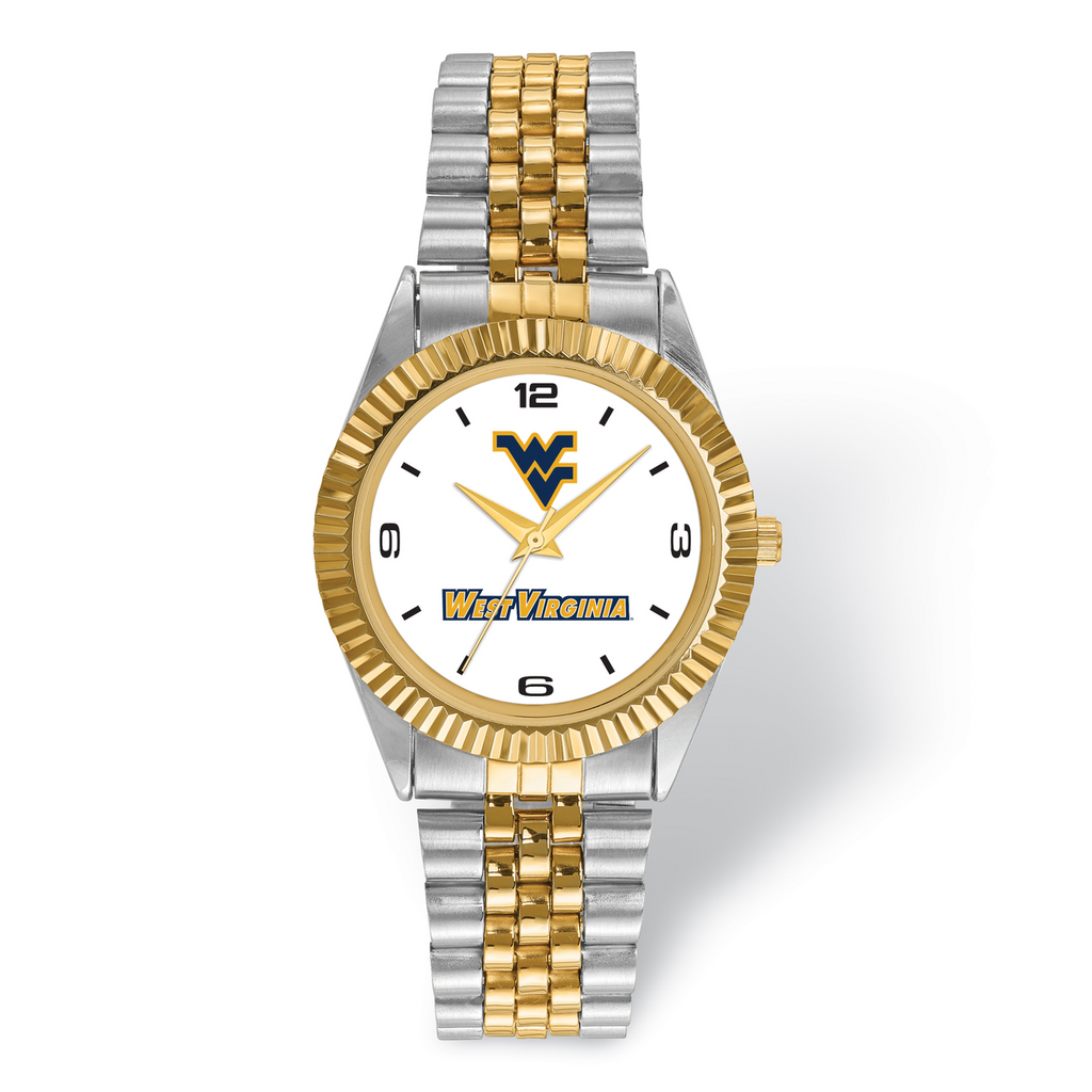 West Virginia University Pro Two-tone Mens Watch MPN: WVU165 UPC: 191101125362