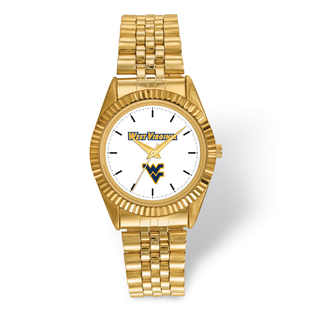 West Virginia University Pro Gold-tone Mens Watch MPN: WVU166 UPC: 191101125379