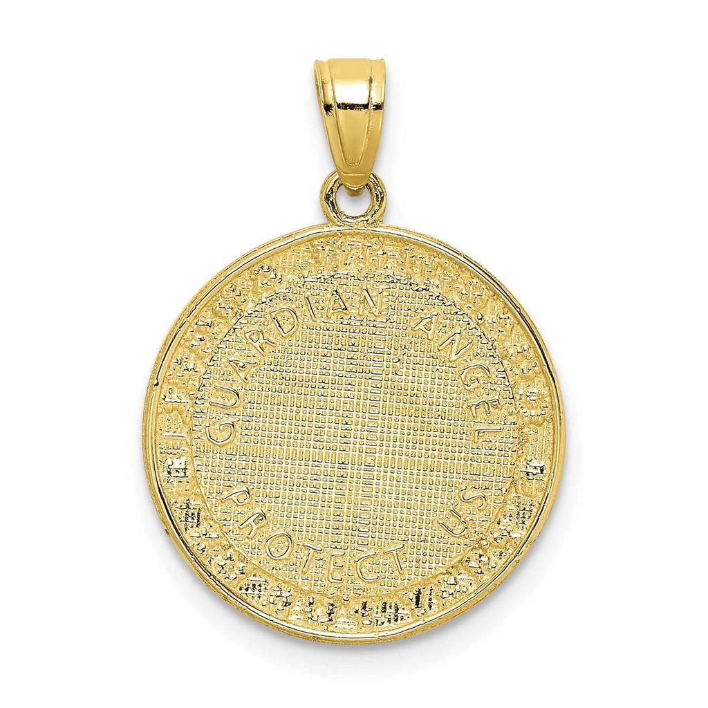 Guardian Angel Medallion 10k Gold with Rhodium 10C1453