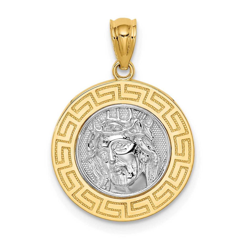 14k White Gold Rhodium Jesus Medal, MPN: C4710, UPC: