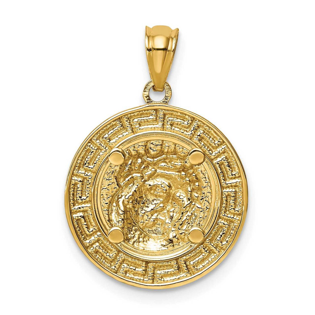 Jesus Medal 14k White Gold Rhodium C4710