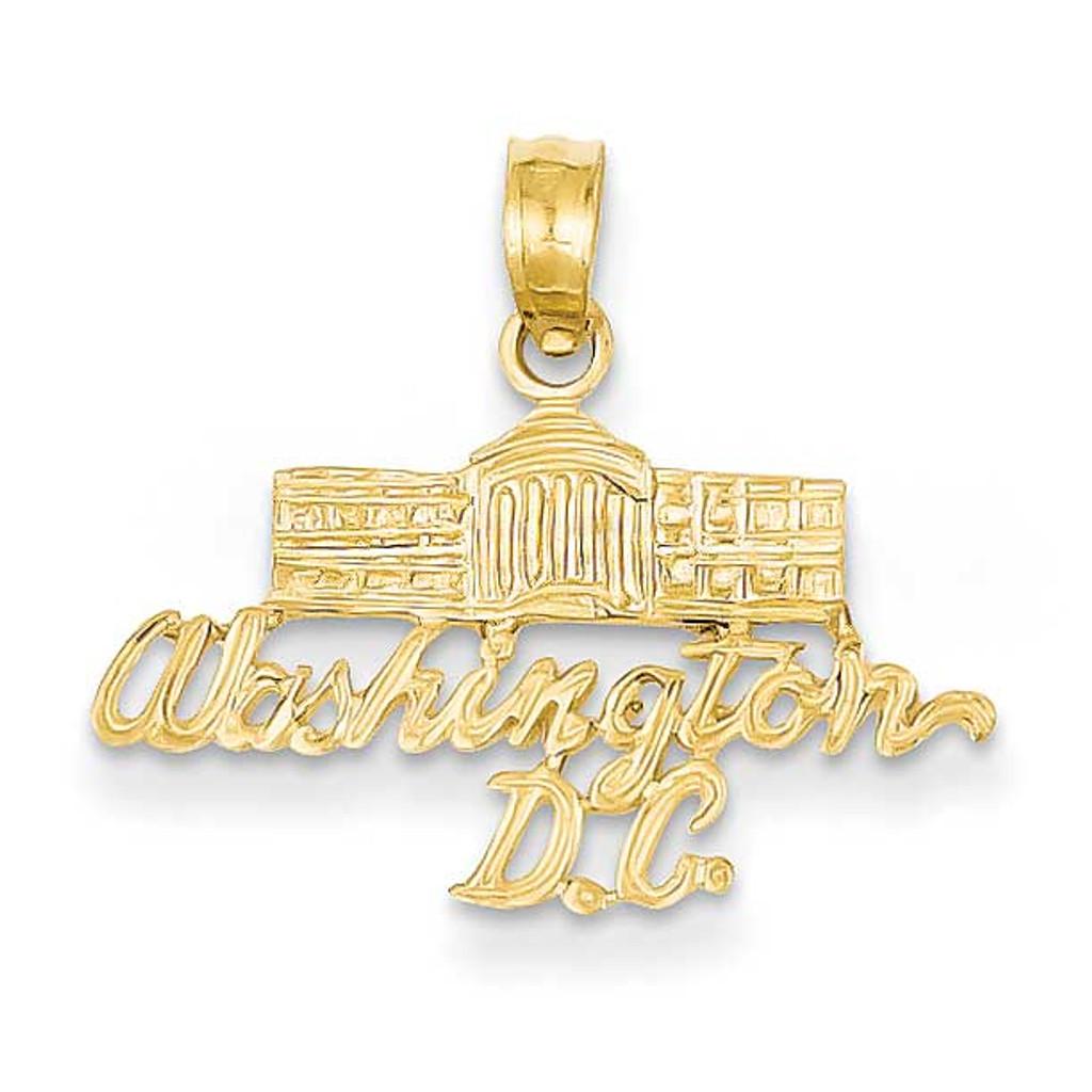 14k Gold Washington D.C. White House Pendant, MPN: K2785, UPC: 637218049080