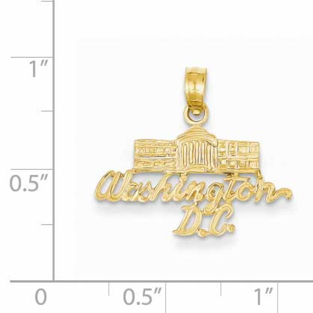 Washington D.C. White House Pendant 14k Gold K2785