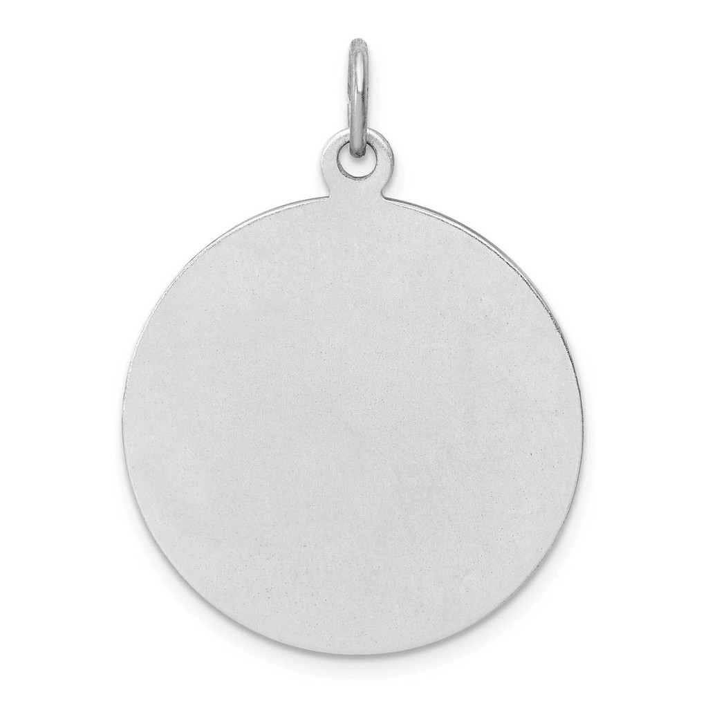 Enamel St. Christopher Medal Sterling Silver Rhodium-plated QC9418