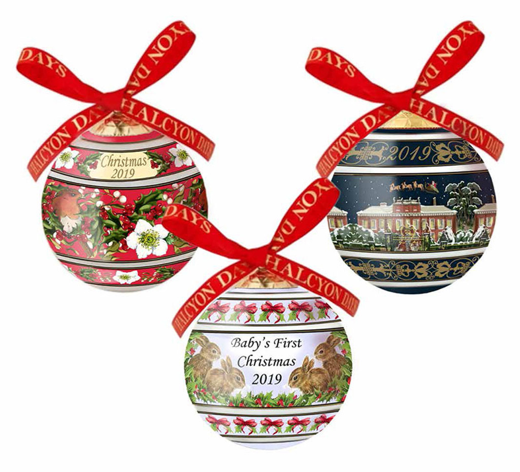 Halcyon Days 2019 London Palace by Night Bauble Ornament, MPN: BCLP1911XBN