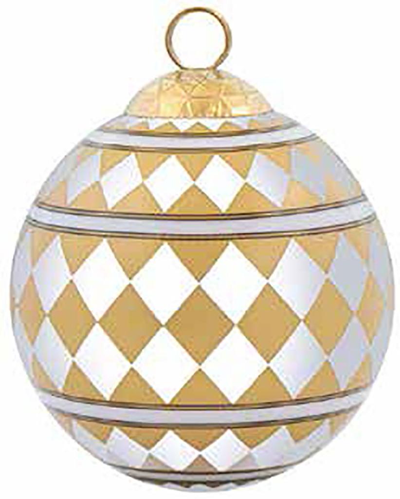 Halcyon Days Parterre Gold Bauble Ornament, MPN: BCPAR1603XBN