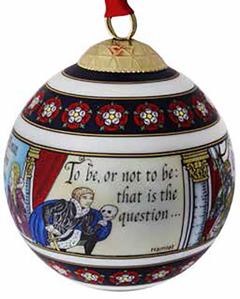 Halcyon Days Shakespeare Bauble Ornament, MPN: BCSHA01XBN