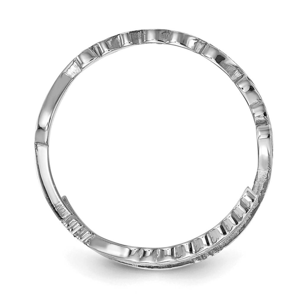 Arrow Name Ring 10k White Gold 10XNR97W