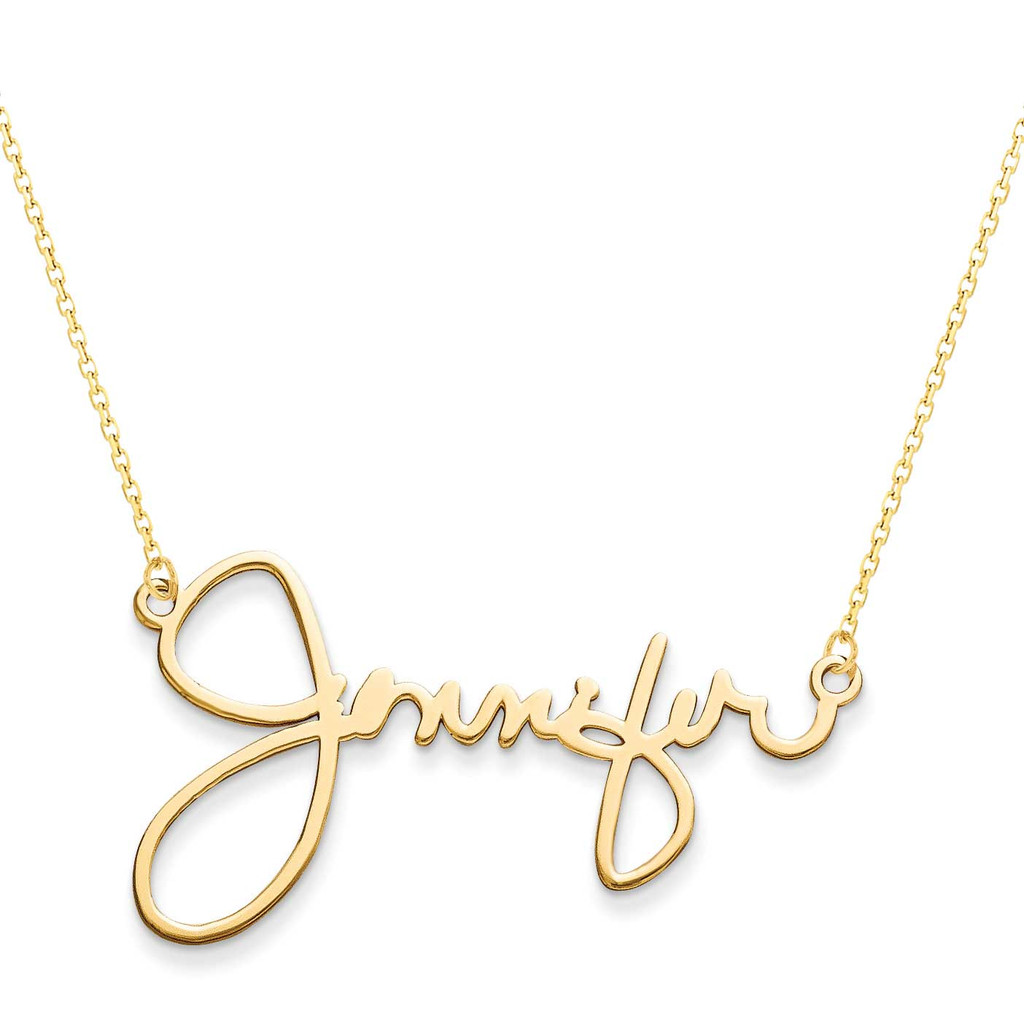 14k Gold 1 Name Signature Plate, MPN: XNA506Y, UPC: 191101221507
