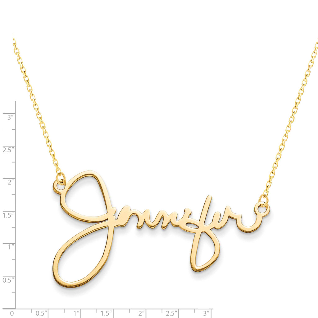 1 Name Signature Plate 14k Gold XNA506Y