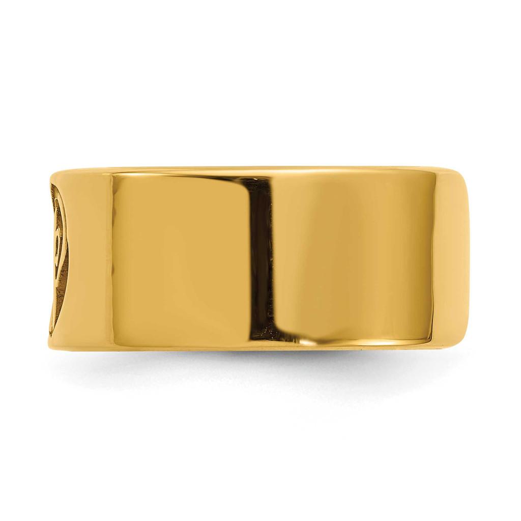 Script Letter Cigar Style Band 14k Gold XNR93Y