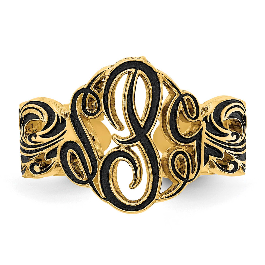 Monogram Antique Ring 14k Gold XNR96Y