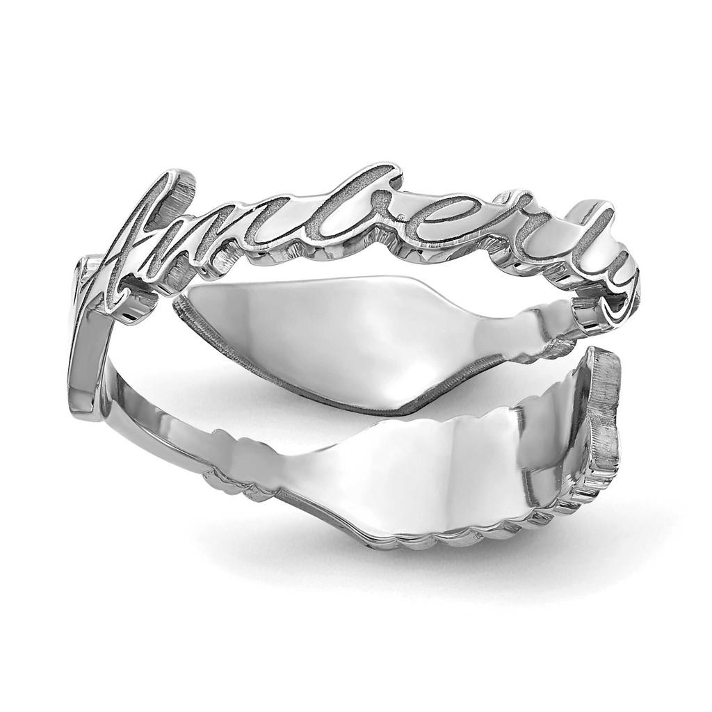 14k White Gold Arrow Name Ring, MPN: XNR97W, UPC: