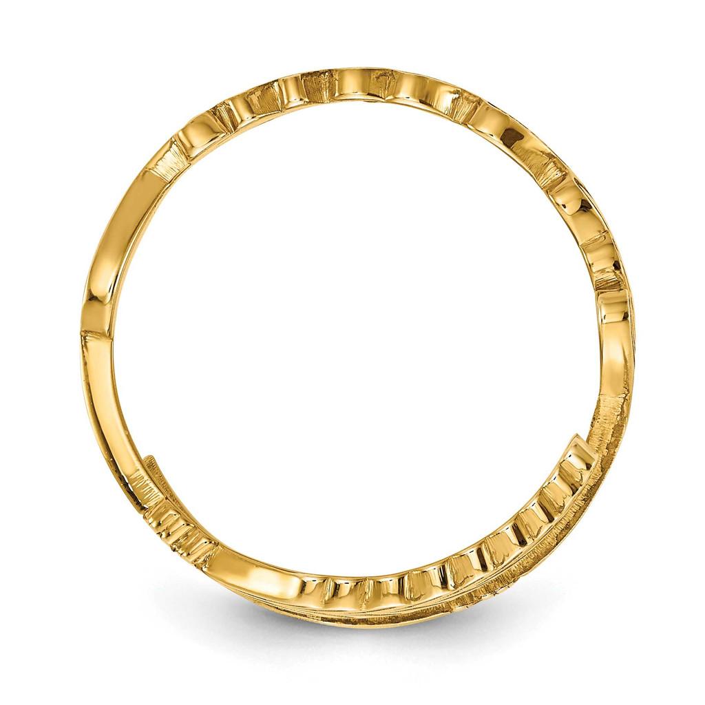 Arrow Name Ring 14k Gold XNR97Y