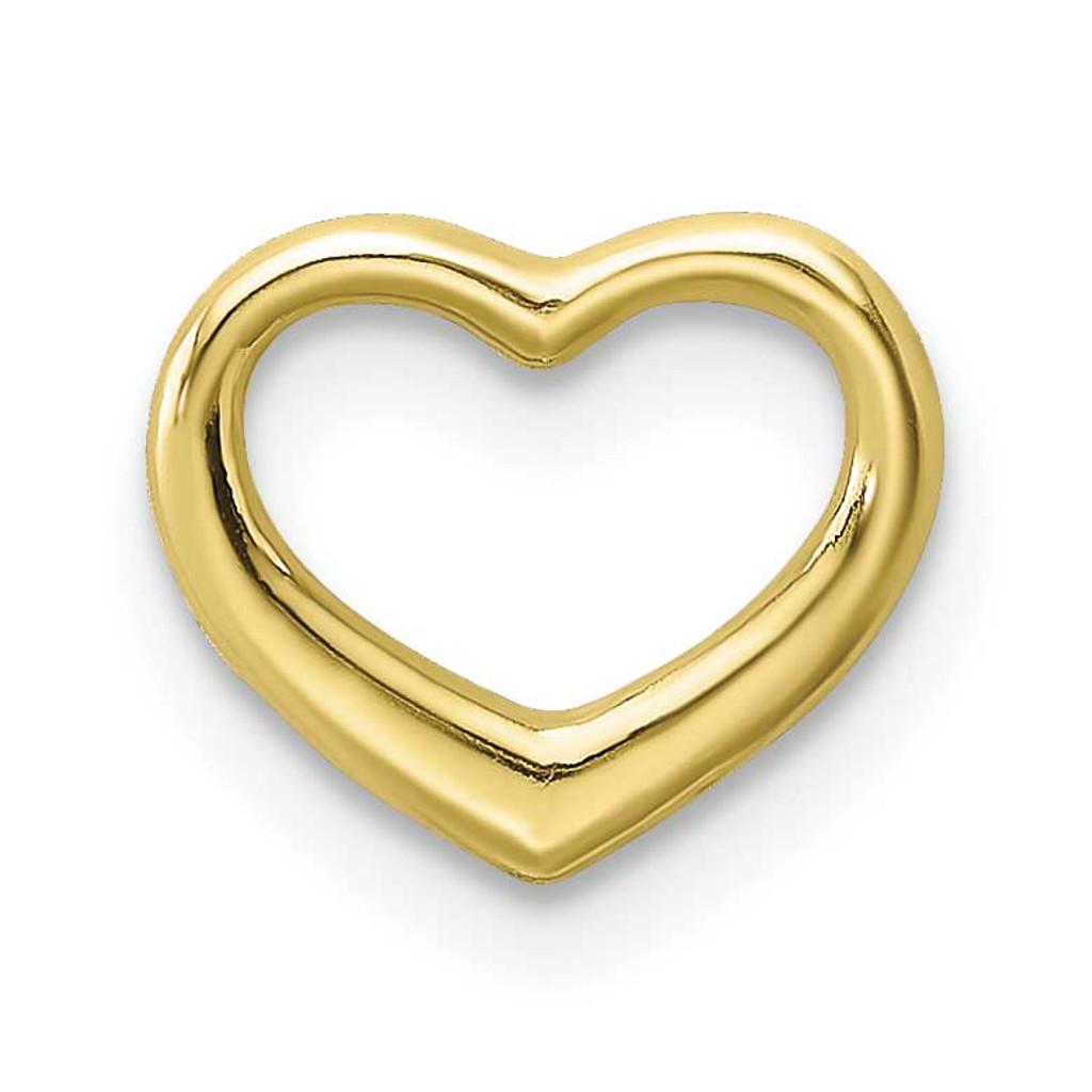 Mini Floating Heart Slide 10k Gold Polished, MPN: 10K7108, UPC: