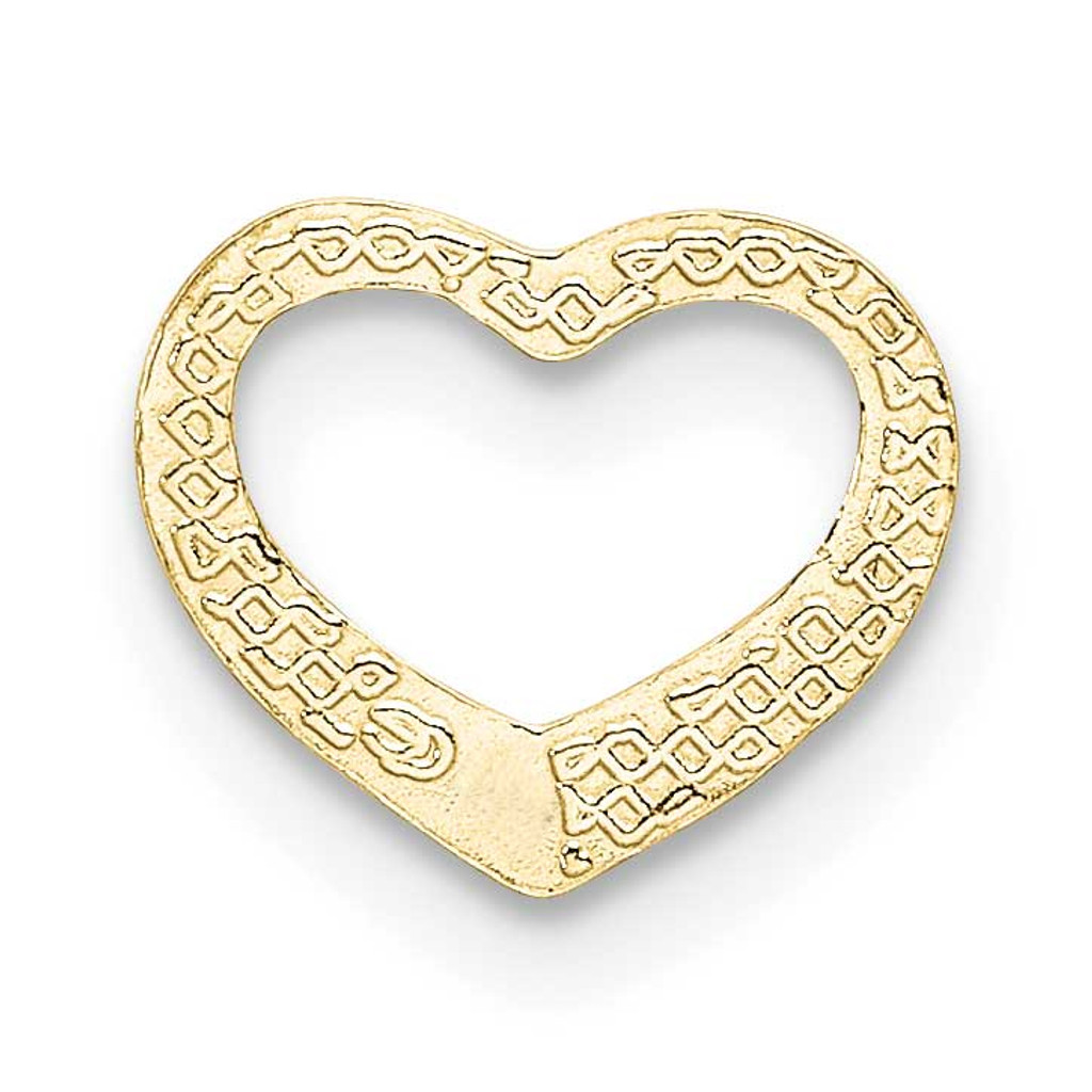 Mini Floating Heart Slide 10k Gold Polished 10K7108