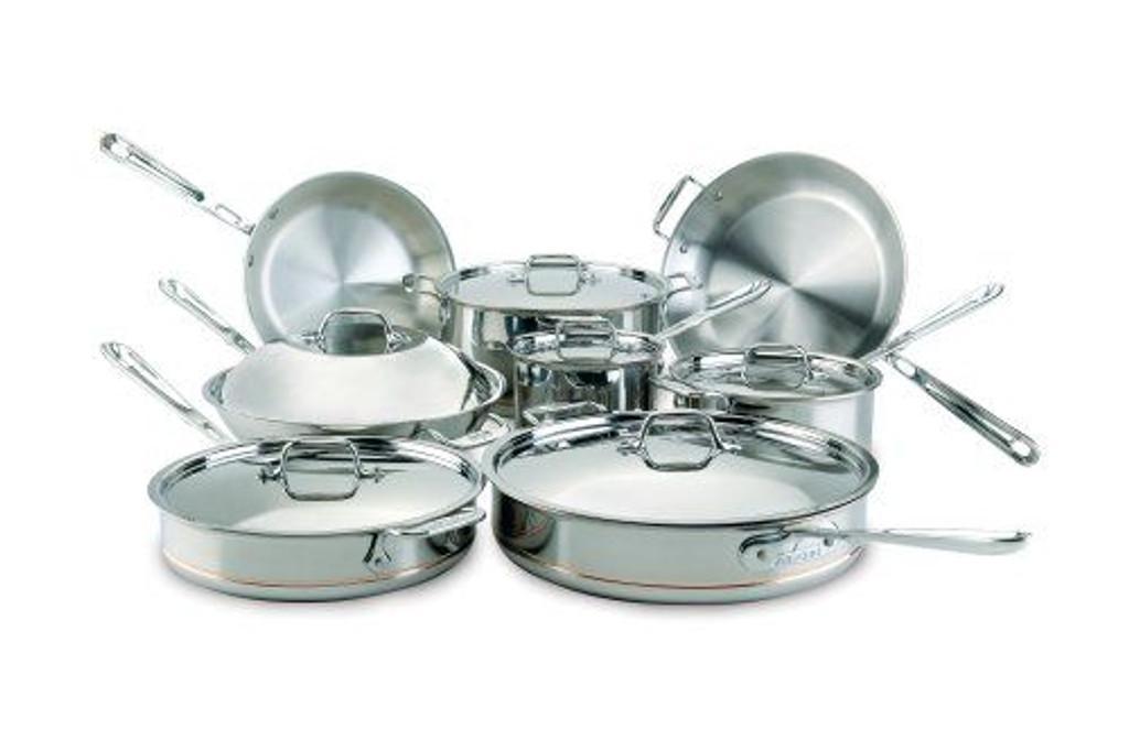 All Clad Copper Core 14 Piece Cookware Set