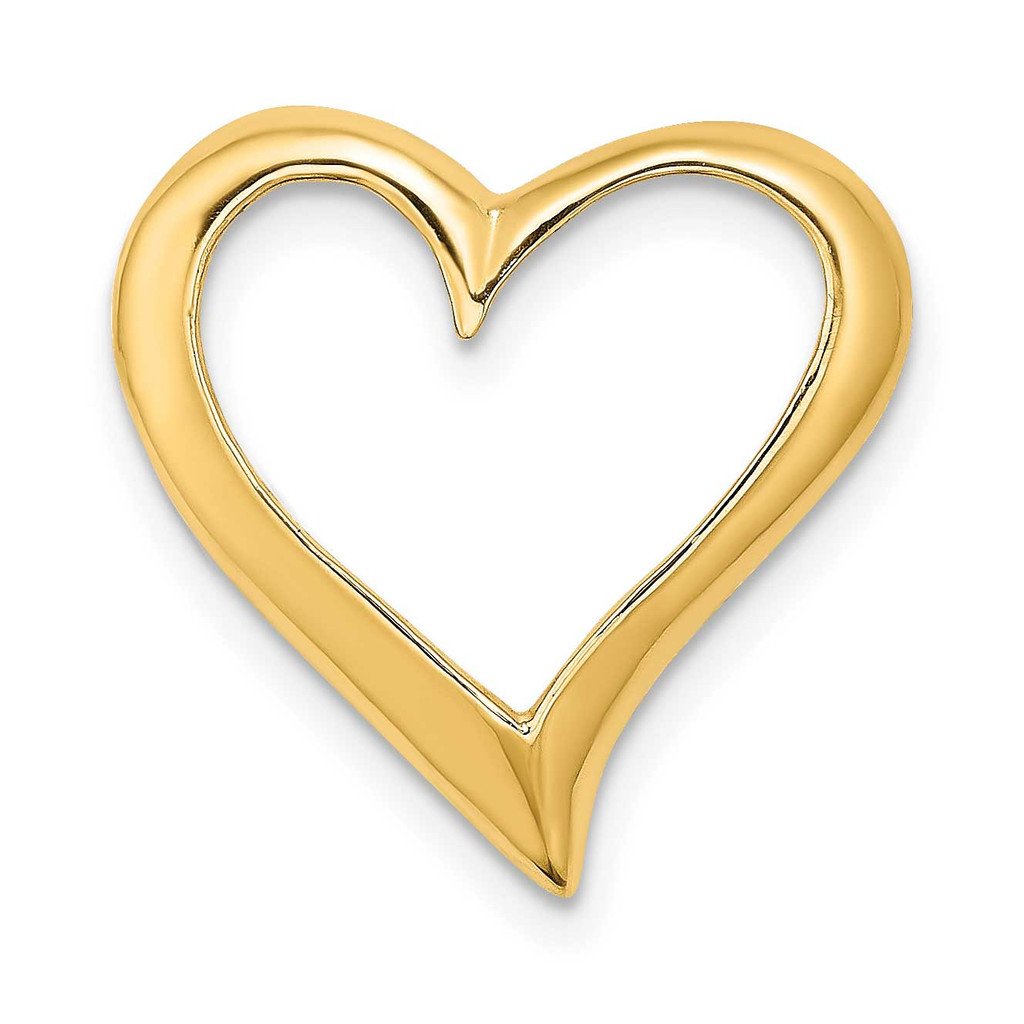 Large Floating Heart Slide 14k Gold 2-D, MPN: K7116, UPC: 637218188376