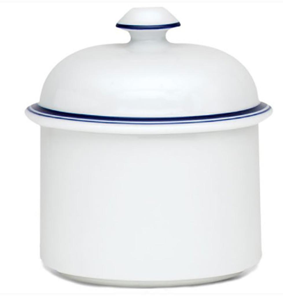 Dansk Christianshavn Blue Sugar Bowl with Lid, MPN: 07337CL, UPC: 732316061429