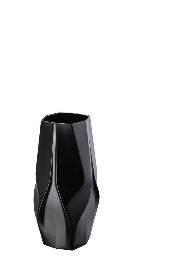 Rosenthal Weave Black - Zaha Hadid Vase, MPN: 14488-105000-26035, UPC: 790955139121, Size: 13 3/4 Inchch.