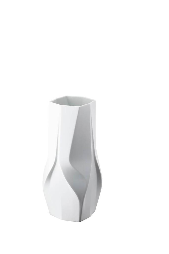 Rosenthal Weave White- Zaha Hadid Vase, MPN: 14488-100102-26035, UPC: 790955139107, Size: 13 3/4 Inchch.