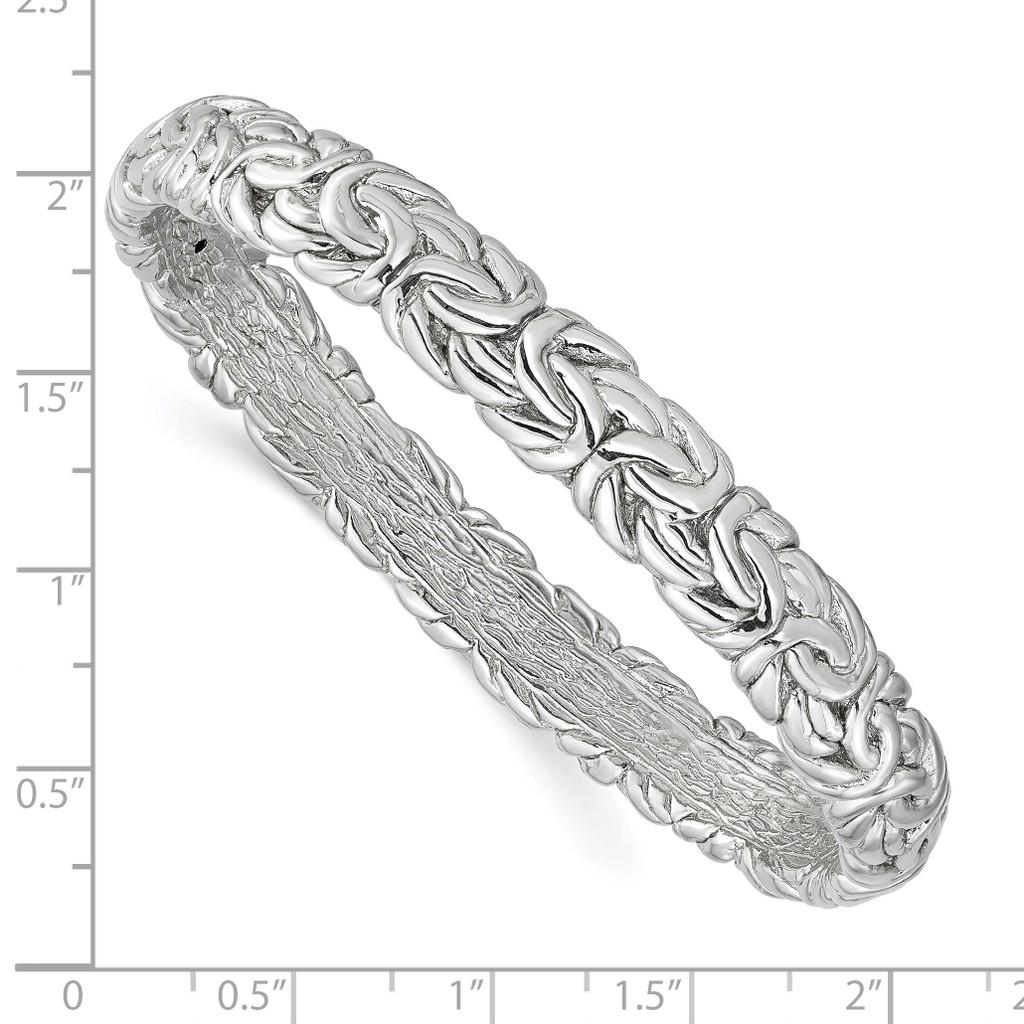 Byzantine Bangle Sterling Silver Rhodium-plated QLF1201