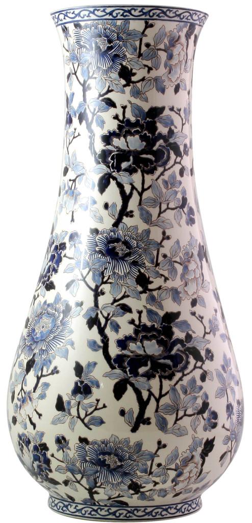 Gien Pivoines Bleues Vase Musee, MPN: 1665CVAM00, EAN: 0840769044255