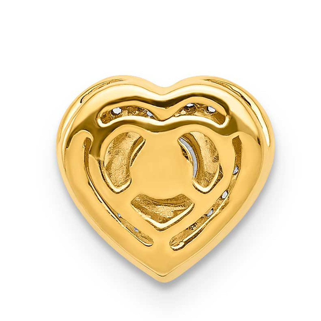 .25 Ruby Fancy Heart Chain Slide 14k Gold Diamond PM3921-RU-005-YA