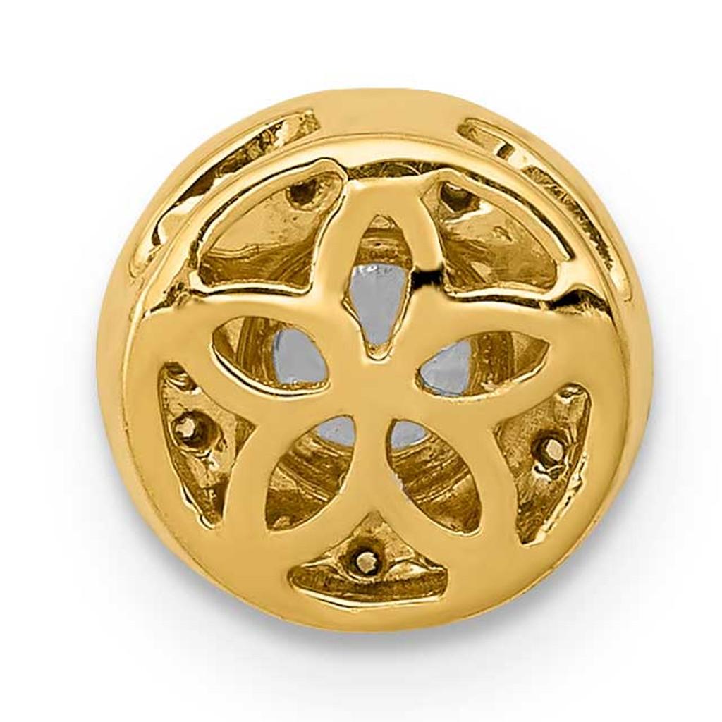 1/15ct. Diamond & .25 Sapphire Fancy Chain Slide 14k Gold PM3922-SA-007-YA