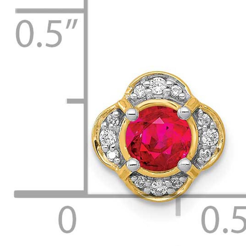 .33 Ruby Fancy Chain Slide 14k Gold Diamond PM3923-RU-007-YA