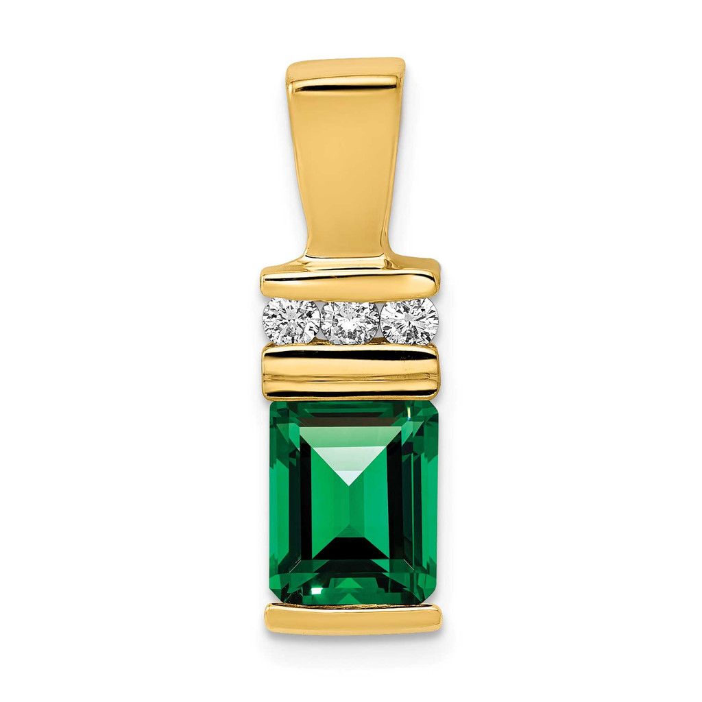 8x6mm Emerald Cut Mount St. Helens AA Diamond Slide 14k Gold MPN: XS799MS/AA UPC: 883957994918