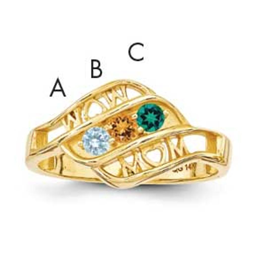 Genuine Family Jewelry Ring 14k Gold MPN: XMR66/3GY UPC: 191101539572