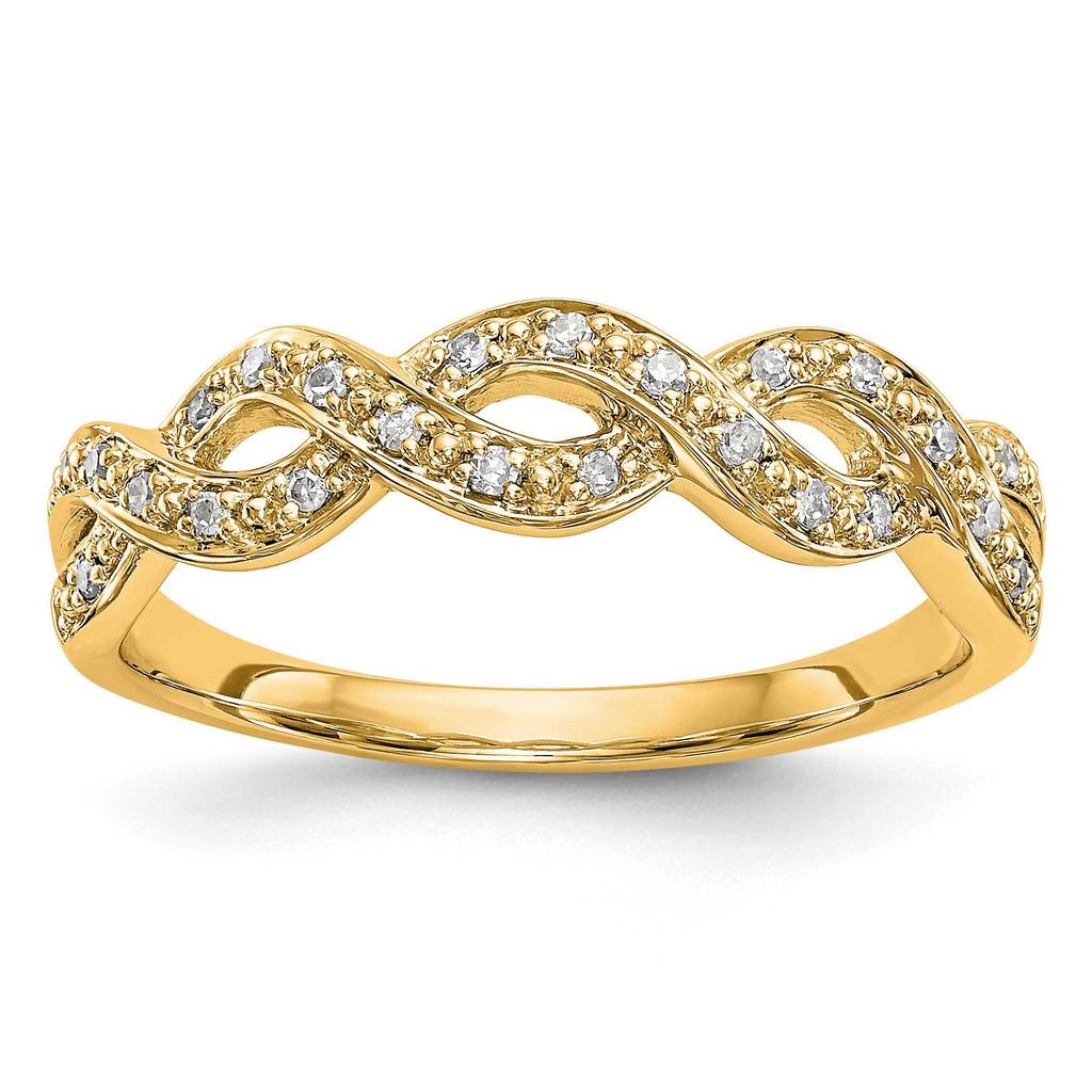Diamond Band 14k Yellow Gold, MPN: RM3385B-010-YAAUPC: