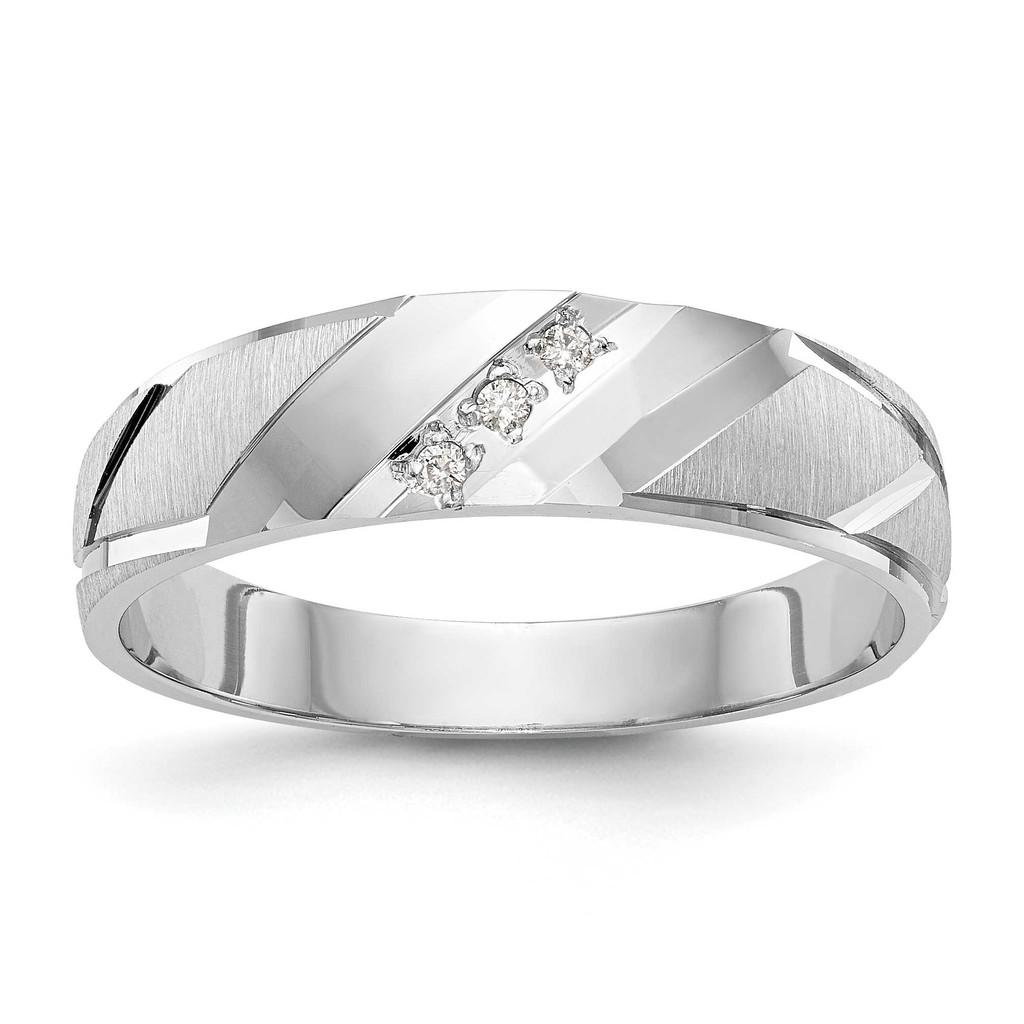 AA Quality Trio Mens Wedding Band 14k White Gold, MPN: Y2454AA-GUPC: 886774135052