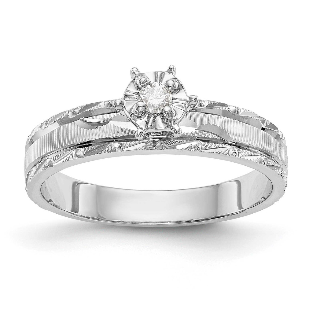 AA Quality Trio Engagement Ring 14k White Gold, MPN: Y2476AA-EUPC: 886774135069