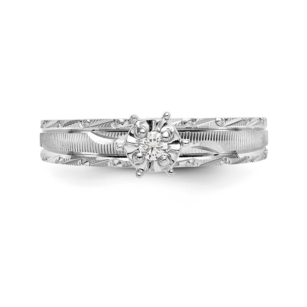 AA Quality Trio Engagement Ring 14k White Gold Y2476AA-E