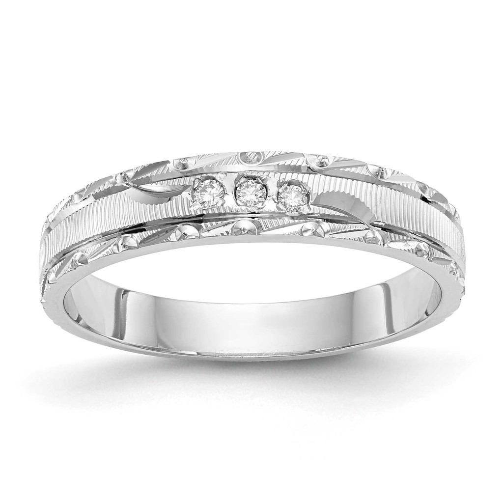 AA Quality Trio Ladies Wedding Band 14k White Gold, MPN: Y2477AA-LUPC: 886774135076