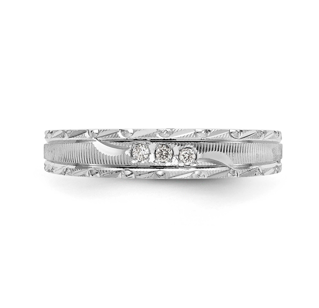 AA Quality Trio Ladies Wedding Band 14k White Gold Y2477AA-L