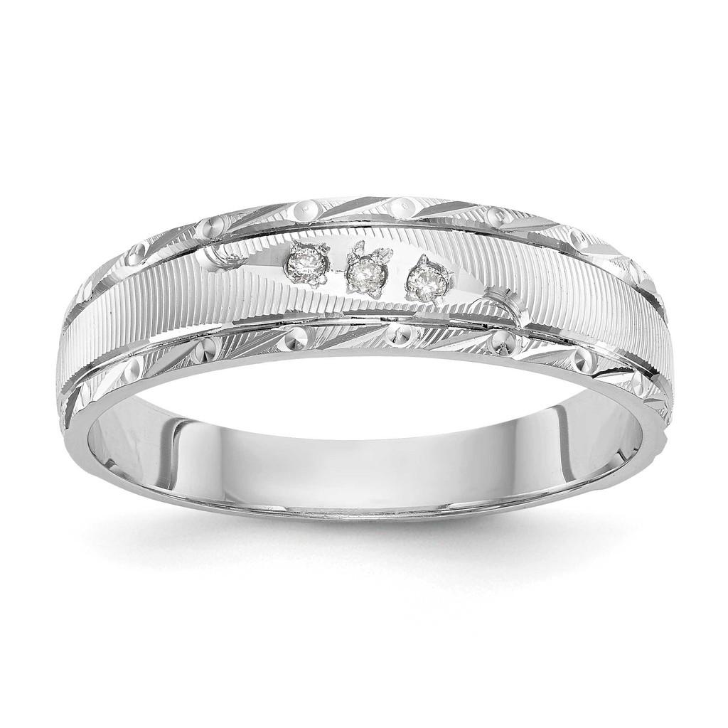 AA Quality Trio Mens Wedding Band 14k White Gold, MPN: Y2478AA-GUPC: 886774135083