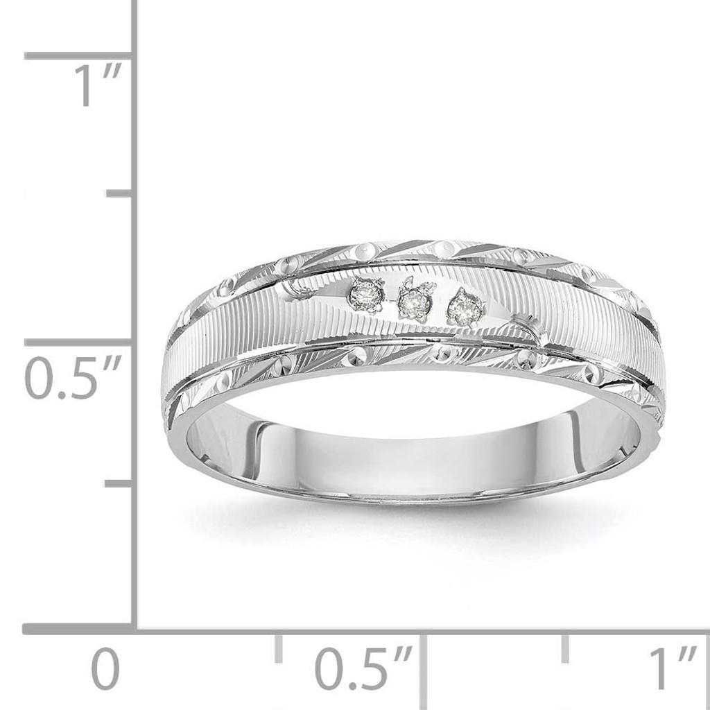 AA Quality Trio Mens Wedding Band 14k White Gold Y2478AA-G