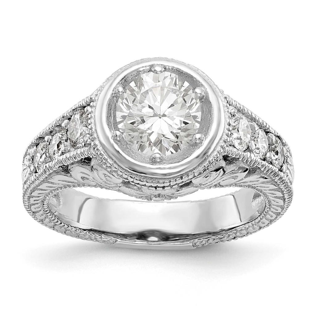 Diamond Semi-Mount Engagement Ring 14k White Gold, MPN: RM2621E-075-WAAUPC: