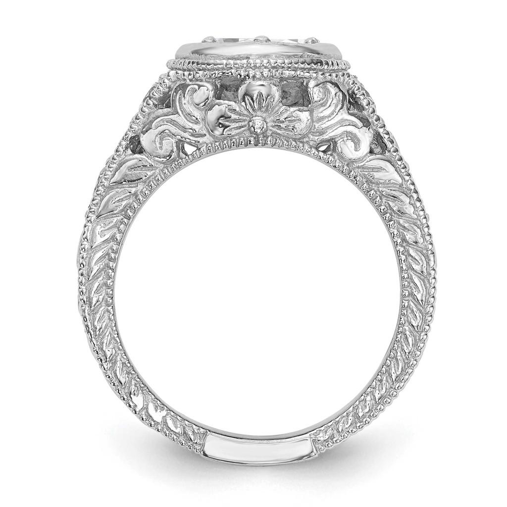 Diamond Semi-Mount Engagement Ring 14k White Gold RM2621E-075-WAA